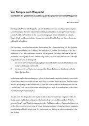 Von Bologna nach Wuppertal - Stiftung Partner für Schule NRW