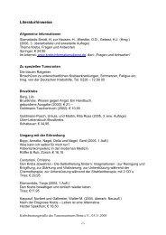 Literaturhinweise - Tumorzentrum Bonn eV