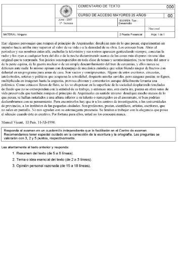 COMENTARIO DE TEXTO ooo - UNED Cervera