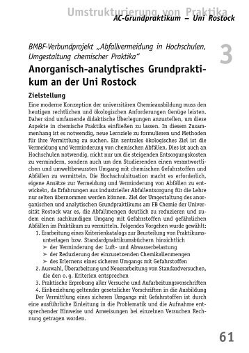 Anorganisch-analytisches Grundpraktikum an der ... - BuFaTa Chemie