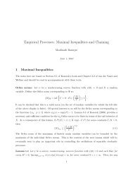 Empirical Processes: Maximal Inequalities and Chaining