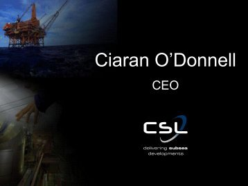 Ciaran O'Donnell - Subsea UK