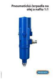Návod k použití pneumatické, olejové a naftové čerpadlo 1:1 - Pressol