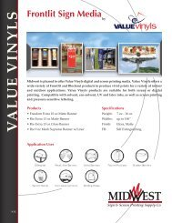 V A LU E V INYLS - Midwest Sign & Screen Printing Supply