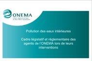 Pollution des eaux intérieures - Cadre législatif et ... - Cedre