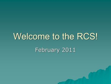 Welcome to the Rural Clinical School (Presentation)