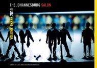 VOLUME THREE 2010 THE JOHANNESBURG SALON
