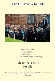 Årets mødeprogrammer - Vestervang Kirke