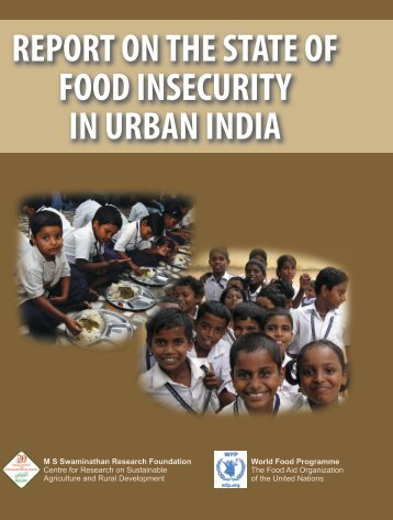 report on the state of food insecurity in urban india - IDEAs