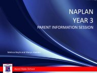 Year 3 NAPLAN Parent Information Session - Ascot State School