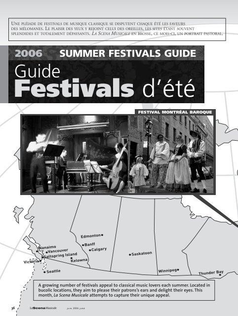 Calendrier Festival.Calendrier Des Festivals La Scena Musicale