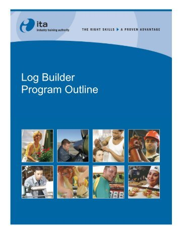 Log Builder Program Outline - Industry Training Authority