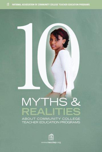 MYTHS & - the National Center for Teacher Education - Maricopa ...