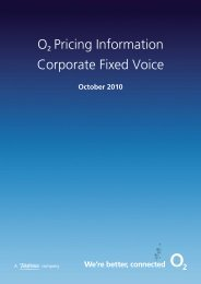 ř Pricing Information Corporate Fixed Voice - O2