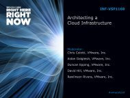 Architecting a Cloud Infrastructure - VMware