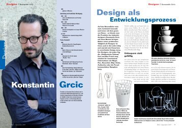 Konstantin Grcic - claudiasimonehoff.de