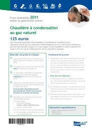 Chaudière à condensation au gaz naturel 125 euros - Eandis