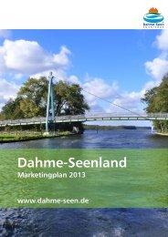 Marketingplan 2013 - Tourismusverband Dahme-Seen eV