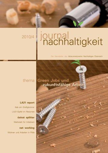 journal nachhaltigkeit - ÖGUT