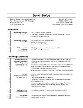 Delvin Defoe - Rose-Hulman