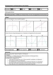4-D Argumentieren und Kommunizieren in der Analysis Schulform x ...