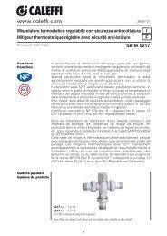 Miscelatore termostatico regolabile con sicurezza ... - Caleffi