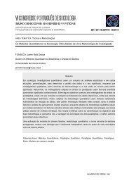 Os Métodos Quantitativos na Sociologia - Associação Portuguesa ...