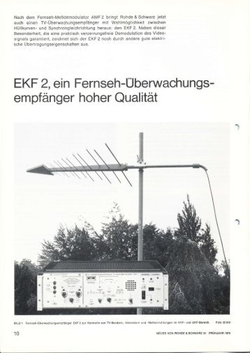 EKF 2, ein Fernseh-Uberwachungs- empfänger ... - Classic Broadcast