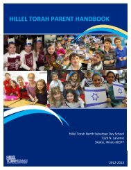 hillel torah parent handbook - the Hillel Torah North Suburban Day ...