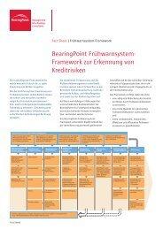 Framework zur Erkennung von Kreditrisiken - BearingPoint ToolBox