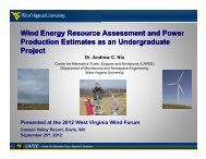 Wind Energy Resource Assessment and Power Production Estimates as ...