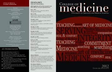 College of - University of Arkansas for Medical Sciences