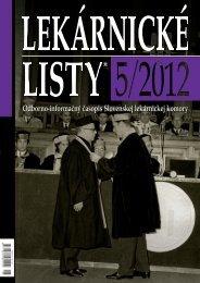 Lekárnické LiSty® 5/2012 - Slovenská lekárnická komora