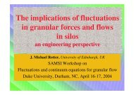 The implications of fluctuations in granular forces and flows ... - SAMSI