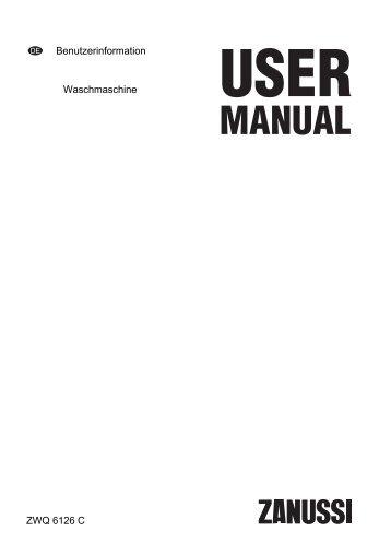 Benutzerinformation Waschmaschine ZWQ 6126 C - Electrolux-ui.com