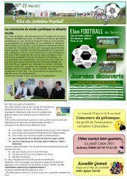 N° 21 Mai 2011 Elan des Sorinières Football - Quomodo
