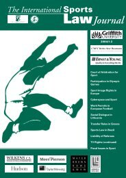 The International Sports Law Journal 2004, No. 1-2 - TMC Asser ...
