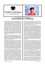 Die Woche im Bundestag Klausurergebnisse von ... - CDU Saar