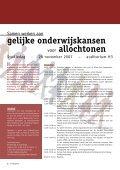 Gelijke onderwijskansen voor allochtonen Dag van het ... - UHasselt - Page 2
