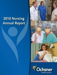 2010 Nursing Annual Report - Ochsner.org
