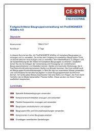 Fortgeschrittene Baugruppenverwaltung mit Pro/Engineer Wildfire ...