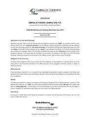 EMERALD FUNDING (GIBRALTAR) PLC - Irish Stock Exchange