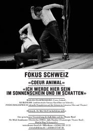 FOKUS SCHWEIZ - kult.kino Atelier
