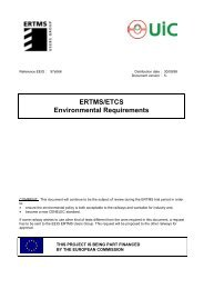 ERTMS/ETCS Environmental Requirements