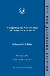 Navigating the New Normal in Industrial Countries, Per Jacobsson ...