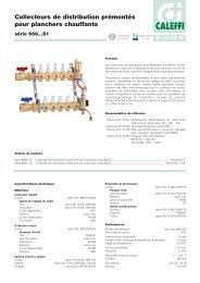 Collecteurs de distribution prémontés pour planchers ... - Caleffi
