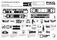 # 37500 Baureihe 218 DB AG ERSATZTEILE - Champex-Linden