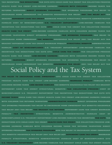 Social Policy and the Tax System - Urban Institute