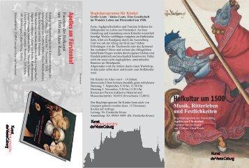 Begleitprogramm herunterladen - Kunstsammlungen der Veste ...