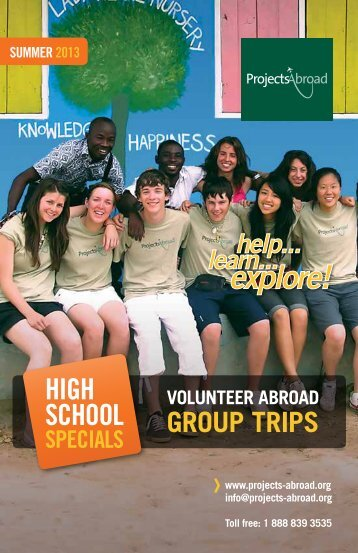 high school specials - Projects Abroad